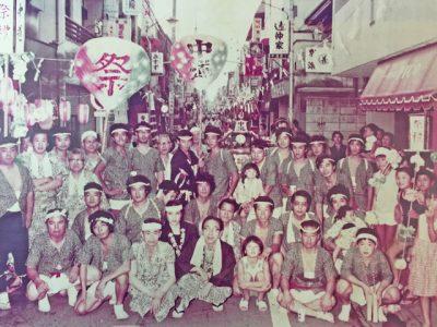 1980年代の中道通りとお祭り